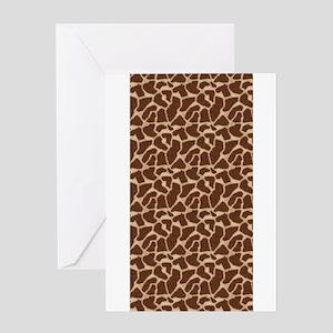 Animal Print GIRAFFE Greeting Cards
