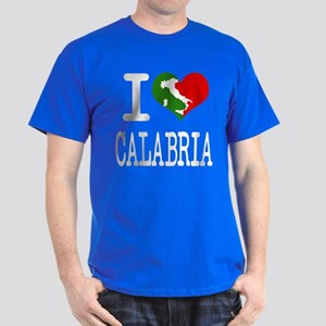 I Love Calabria Italian Dark T-Shirt