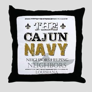 The Cajun Navy Neighbors Helping Neig Throw Pillow