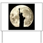 Full Moon Liberty Silhouette Yard Sign