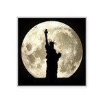 Full Moon Liberty Silhouette Sticker