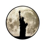 Full Moon Liberty Silhouette Button