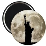 Full Moon Liberty Silhouette Magnets