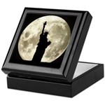 Full Moon Liberty Silhouette Keepsake Box