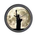 Full Moon Liberty Silhouette Wall Clock