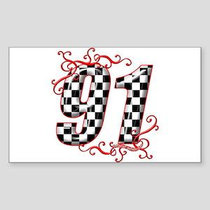 RaceFashion.com 91 Rectangle Sticker
