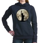 Full Moon Liberty Silhouette Women's Hooded Sweats