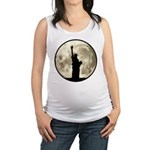 Full Moon Liberty Silhouette Maternity Tank Top