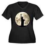 Full Moon Liberty Silhouette Plus Size T-Shirt