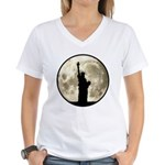 Full Moon Liberty Silhouette T-Shirt