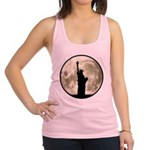 Full Moon Liberty Silhouette Racerback Tank Top