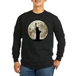 Full Moon Liberty Silhouette Long Sleeve T-Shirt