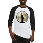Full Moon Liberty Silhouette Baseball Jersey