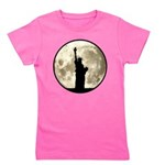 Full Moon Liberty Silhouette Girl's Tee
