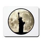 Full Moon Liberty Silhouette Mousepad