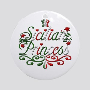 Sicilian Princess italian Ornament (Round)