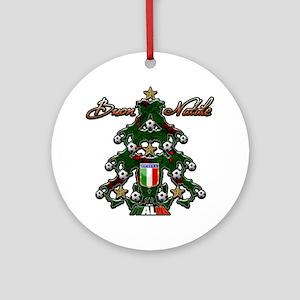 Italia Soccer Christmas Tree Ornament (Round)