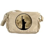 Full Moon Liberty Silhouette Messenger Bag