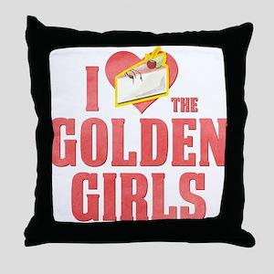 I Heart Golden Girls Throw Pillow