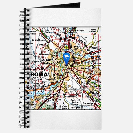Map of ROME, ITALY Journal