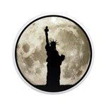 Full Moon Liberty Silhouette Round Ornament