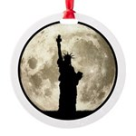 Full Moon Liberty Silhouette Ornament
