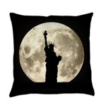 Full Moon Liberty Silhouette Everyday Pillow