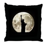 Full Moon Liberty Silhouette Throw Pillow