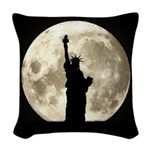 Full Moon Liberty Silhouette Woven Throw Pillow