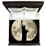 Full Moon Liberty Silhouette King Duvet
