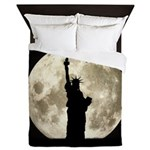 Full Moon Liberty Silhouette Queen Duvet