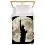 Full Moon Liberty Silhouette Twin Duvet