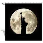 Full Moon Liberty Silhouette Shower Curtain