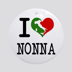 I Love Nonna Ornament (Round)