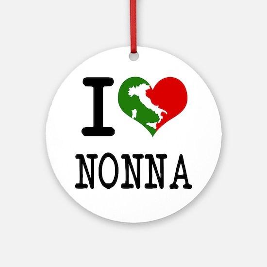 I Love Nonna Ornament (Round)