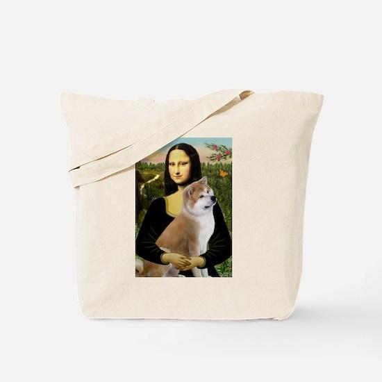 Mona / Akita (br&w) Tote Bag