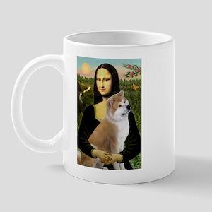 Mona / Akita (br&w) Mug