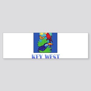 Macaw, Parrot, Butterfly, Jungle K Bumper Sticker