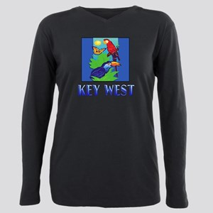 Macaw, Parrot, Butterfly Plus Size Long Sleeve Tee