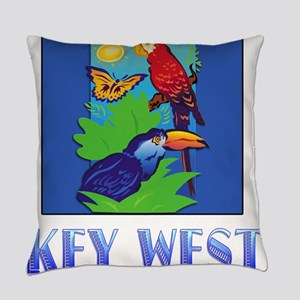 Macaw, Parrot, Butterfly, Jungle Everyday Pillow