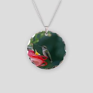 Perched Hummingbird Necklace