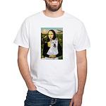 MonaLisa-AKita2 White T-Shirt