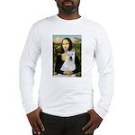 MonaLisa-AKita2 Long Sleeve T-Shirt