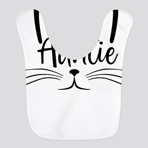 Auntie Cat Face Best Aunt Ever Polyester Baby Bib