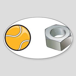 Tennis Nut Oval Sticker