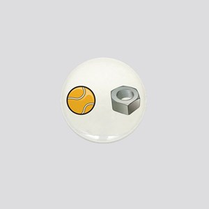 Tennis Nut Mini Button