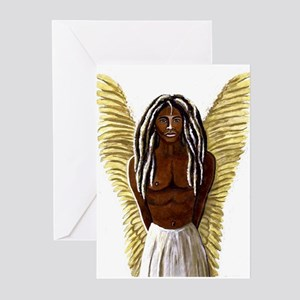 Rastafarian art greeting cards cafepress rastafarian archangel michael greeting cards m4hsunfo