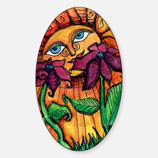 Cute Summer solstice Sticker (Oval)