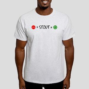 Plus Stout Happy T-Shirt