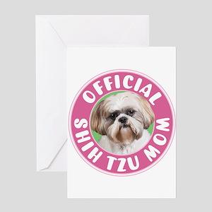 Shih Tzu Mom Greeting Cards